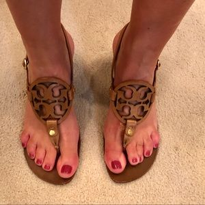 Tory Burch kitten heel sandals